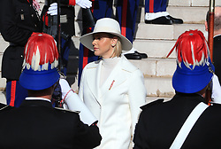 Princess Charlene The royal family of Monaco leaving the St. Nicholas Cathedral for the beginning of the National Day festivities on November 19th 2019.