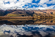 Central Otago, lake reflection, New Zealand