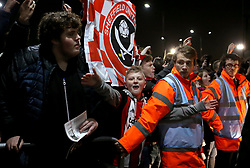 Sheffield United fans ahead of the Steele City Derby against Sheffield Wednesday - Mandatory by-line: Robbie Stephenson/JMP - 12/01/2018 - FOOTBALL - Bramall Lane - Sheffield, England - Sheffield United v Sheffield Wednesday - Sky Bet Championship