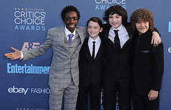 Caleb McLaughlin, Noah Schnapp, Finn Wolfhard, Gaten Matarazzo  bei der Verleihung der 22. Critics' Choice Awards in Los Angeles / 111216