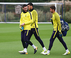 October 31, 2017 - Enfield, England, United Kingdom - Tottenham Hotspur's Hugo Lloris.during a Tottenham Hotspur training session ahead of the UEFA Champions League Group H match against Real Madrid  at Tottenham Hotspur Training centre on 31 Oct , 2017 in Enfield, England. (Credit Image: © Kieran Galvin/NurPhoto via ZUMA Press)