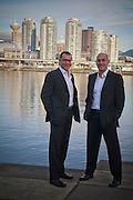 Michael and Sandro Headshots for accredited morgage and professional work.  Images were photographed in Vancouver BC