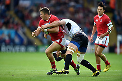 DTH Van Der Merwe of Canada takes on the Romania defence - Mandatory byline: Patrick Khachfe/JMP - 07966 386802 - 06/10/2015 - RUGBY UNION - Leicester City Stadium - Leicester, England - Canada v Romania - Rugby World Cup 2015 Pool D.