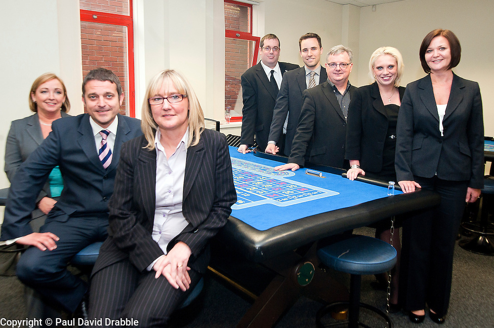 Genting Club management at the Croupier School in Sheffield..13 June 2012.Image © Paul David Drabble