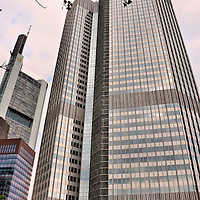 Commerzbank Tower and Eurotower in Frankfurt, Germany<br />