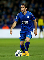 Christian Fuchs of Leicester City - Mandatory by-line: Robbie Stephenson/JMP - 18/04/2017 - FOOTBALL - King Power Stadium - Leicester, England - Leicester City v Atletico Madrid - UEFA Champions League Quarter-Final Second Leg