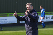 Forest Green Rovers assistant manager, Scott Lindsey at the end of the match during the EFL Sky Bet League 2 match between Forest Green Rovers and Macclesfield Town at the New Lawn, Forest Green, United Kingdom on 13 April 2019.