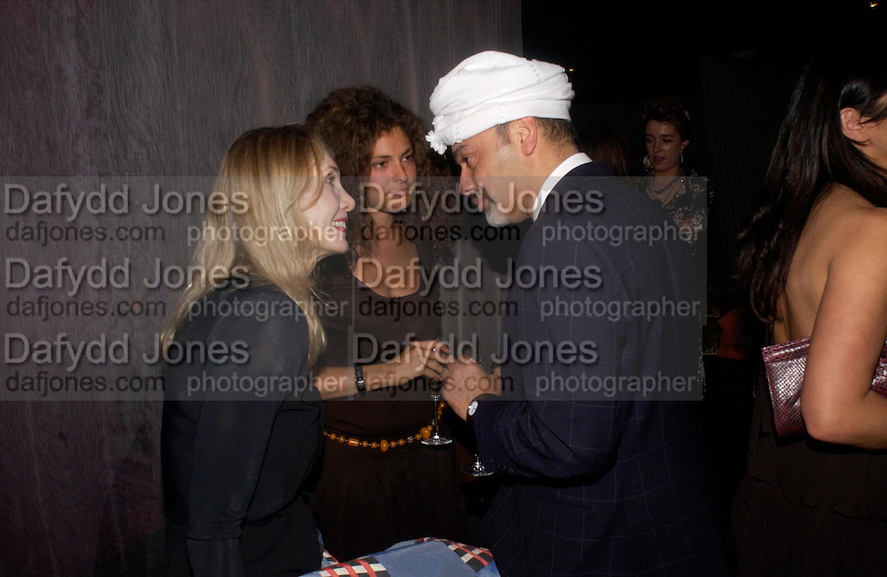 Allegra Hicks, Ginevra Elkann and Christian Louboutin, party given by Daphne Guinness for Christian Louboutin  after the opening of his new shopt.  Baglione Hotel. 16 March 2004.  ONE TIME USE ONLY - DO NOT ARCHIVE  © Copyright Photograph by Dafydd Jones 66 Stockwell Park Rd. London SW9 0DA Tel 020 7733 0108 www.dafjones.com