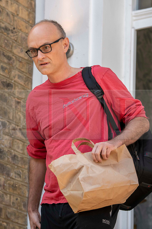 © Licensed to London News Pictures. 25/05/2020. London, UK. DOMINIC CUMMINGS, advisor to British Prime Minister Boris Johnson, is seen leaving his London home. Cummings is under pressure following reports he traveled to Country Durham to see family during Lockdown. Government has announced a series of measures to slowly ease lockdown, which was introduced to fight the spread of the COVID-19 strain of coronavirus. Photo credit: Erica Dezonne/LNP