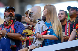 October 21, 2018 - Atlanta, GA, U.S. - ATLANTA, GA - OCTOBER 21: Atlanta United supports during the MLS game between the Atlanta United and the Chicago Fire on October 21, 2018 at the Mercedes-Benz Stadium in Atlanta, GA. Atlanta United FC secured a place in next year's CONCACAF Champions League with a 2-1 victory against the visiting Chicago Fire. (Photo by John Adams/Icon Sportswire) (Credit Image: © John Adams/Icon SMI via ZUMA Press)