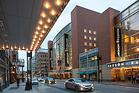 The Aronoff Center and 21c's Overhang in Downtown Cincinnati