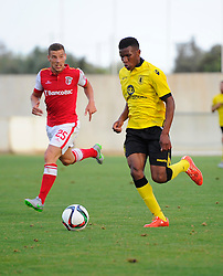 Aston Villa's Riccardo Calder  - Photo mandatory by-line: Joe Meredith/JMP - Mobile: 07966 386802 - 17/07/2015 - SPORT - Football - Albufeira - Estadio Da Nora - Pre-Season Friendly