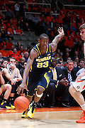CHAMPAIGN, IL - MARCH 4: Caris LeVert #23 of the Michigan Wolverines drives to the basket during the game against the Illinois Fighting Illini at State Farm Center on March 4, 2014 in Champaign, Illinois. Michigan defeated Illinois 84-53. (Photo by Joe Robbins)