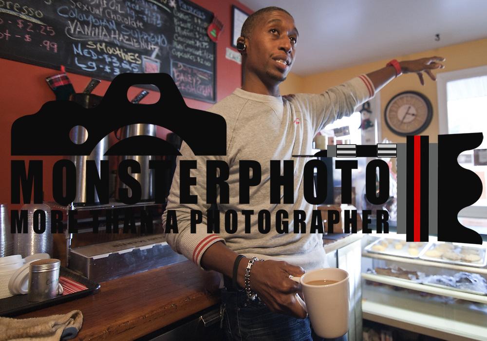 01/05/11 Middletown DE: Bronx Native Mark Harper Owner of Java House Cafe in Middletown Delaware.<br /> <br /> Special to The News Journal/SAQUAN STIMPSON