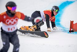 PYEONGCHANG-GUN, SOUTH KOREA - FEBRUARY 24: Dmitry Sarsembaev of Russia and Andreas Prommegger of Germany compete during the Men's Parallel Giant Slalom Qualification Run on day fifteen of the PyeongChang 2018 Winter Olympic Games at Phoenix Snow Park on February 24, 2018 in Pyeongchang-gun, South Korea. Photo by Ronald Hoogendoorn / Sportida