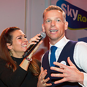 NLD/Hilversum/20151207- Sky Radio's Christmas Tree for Charity, Quinty Trustfull en Barry Atsma