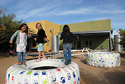 Civano Community School in Tucson, Arizona, USA, won first place in a national contest as the Greenest School in America.  The school teaches and practices environment friendly policies.