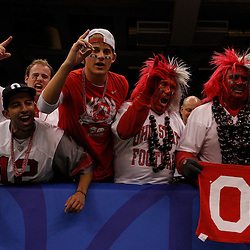 January 4, 2011; New Orleans, LA, USA; Ohio State Buckeyes fans celebrate following a win over the Arkansas Razorbacks in the 2011 Sugar Bowl at the Louisiana Superdome.Ohio State defeated Arkansas 31-26. Mandatory Credit: Derick E. Hingle