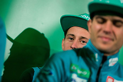 Peter Prevc during press conference of Slovenian Men and Woman national Ski Jumping team, on November 28, 2017 in Pivovarna Union, Ljubljana, Slovenia. Photo by Ziga Zupan / Sportida