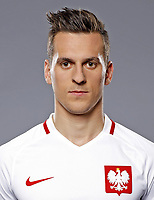 Uefa - World Cup Fifa Russia 2018 Qualifier / <br /> Poland National Team - Preview Set - <br /> Arkadiusz Milik