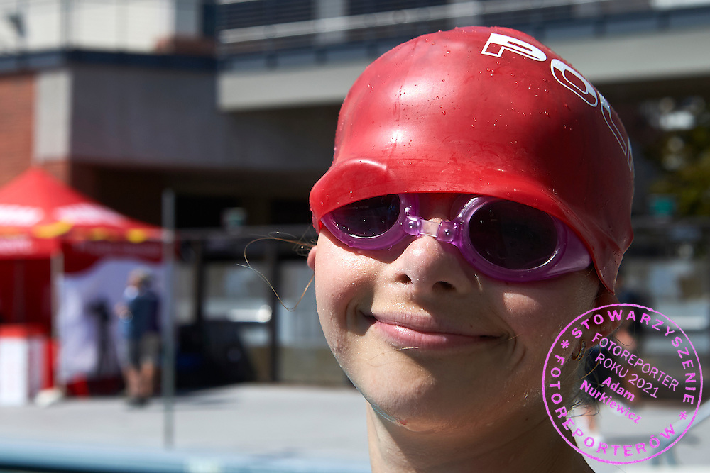 SO Poland athlete competes in aquatics relay 4 x 50 meters during eighth day of the Special Olympics World Games Los Angeles 2015 on August 1, 2015 at Uytengsu Aquatics Centre at University of Southern California in Los Angeles, USA.<br /> <br /> USA, Los Angeles, August 1, 2015<br /> <br /> Picture also available in RAW (NEF) or TIFF format on special request.<br /> <br /> For editorial use only. Any commercial or promotional use requires permission.<br /> <br /> Adam Nurkiewicz declares that he has no rights to the image of people at the photographs of his authorship.<br /> <br /> Mandatory credit:<br /> Photo by &copy; Adam Nurkiewicz / Mediasport