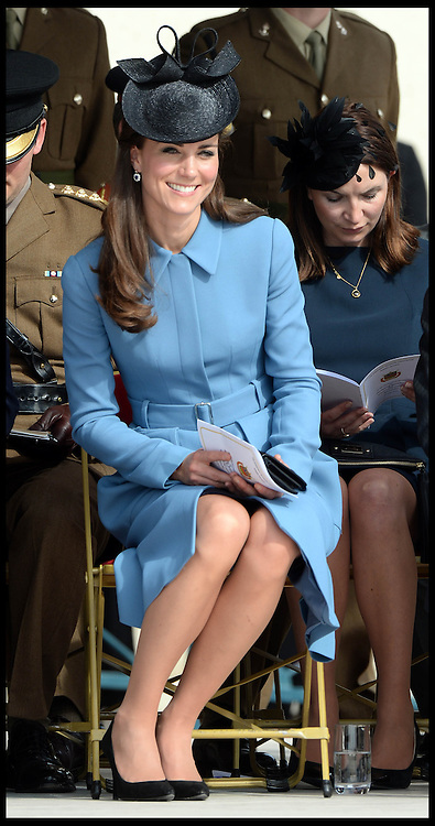 Image ©Licensed to i-Images Picture Agency. 06/06/2014. Arromanches, France, The Duke and Duchess of Cambridge attend a Commemoration of the 70th anniversary of the Normandy Landings at Gold Beach, Normandy, France,  on the 70th anniversary of D-Day.  Picture by Andrew Parsons / i-Images