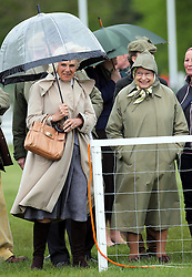 The Queen and Duchess of Cornwall at the Royal Windsor Horse Show, Friday, May 10th 2013.  Photo by: Stephen Lock / i-Images