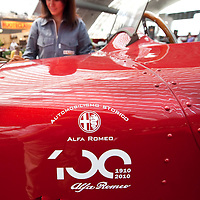 Milano Italy 23rd June 2010  Italian car manufacturer Alfa Romeo celebrates its 100th anniversary as the original company A.L.F.A was founded in Milan on June 24, 1910...***Agreed Fee's Apply To All Image Use***.Marco Secchi /Xianpix. tel +44 (0) 207 1939846. e-mail ms@msecchi.com .www.marcosecchi.com