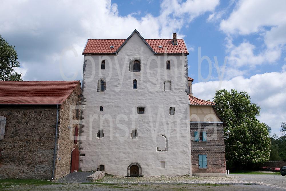 romanischer Westbau, Kloster Wendhusen, Thale, Harz, Sachsen-Anhalt, Deutschland | Monastery Wendhusen, Thale, Harz, Saxony-Anhalt, Germany