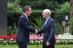 JAN 23 2014 David Cameron meets European Council president at Downing Street
