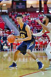 NORMAL, IL - November 03: Lucas Simon defended by Keyshawn Evans during a college basketball game between the ISU Redbirds  and the Augustana Vikings on November 03 2018 at Redbird Arena in Normal, IL. (Photo by Alan Look)