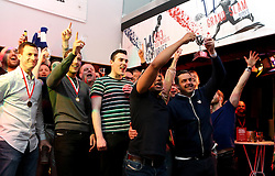 The winners of the RSG Summer Party tournament celebrate with the trophy - Mandatory by-line: Robbie Stephenson/JMP - 19/05/2016 - RUGBY - Ashton Gate - Bristol, England - RSG Summer Party