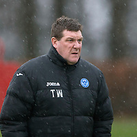 St Johnstone Training.....24.12.13<br /> Manager Tommy Wright pictured in training ahead of the Boxing Day game against Celtic.<br /> Picture by Graeme Hart.<br /> Copyright Perthshire Picture Agency<br /> Tel: 01738 623350  Mobile: 07990 594431