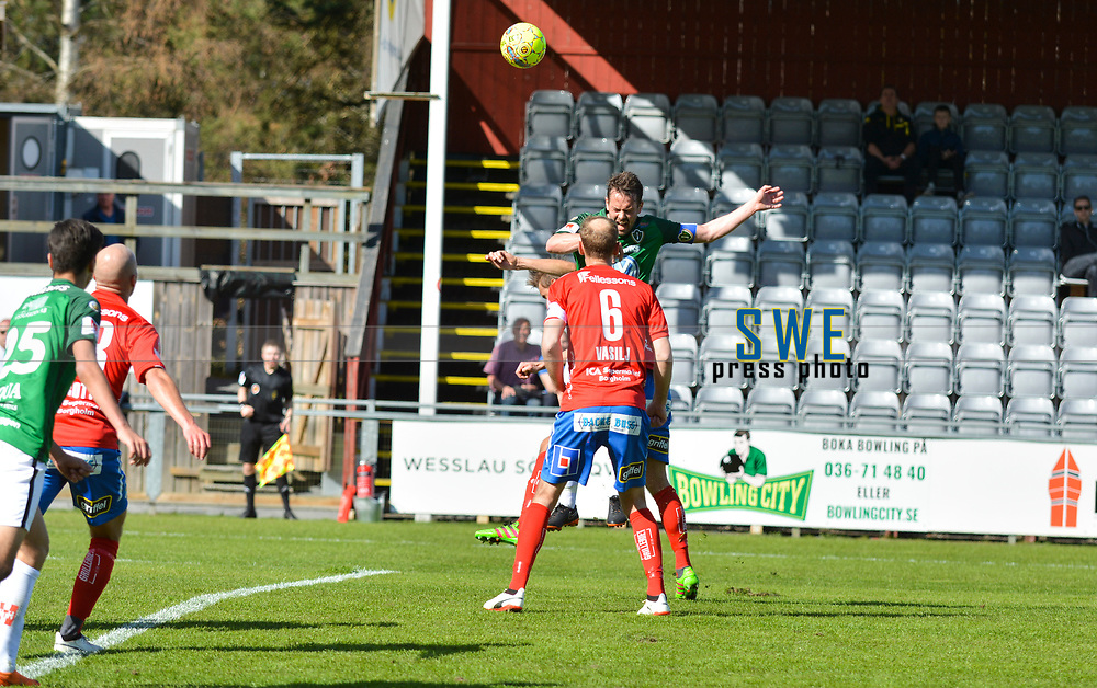 2018-04-22 | J&ouml;nk&ouml;ping, Sweden: J&ouml;nk&ouml;pings S&ouml;dra (5) Fredrik Fendrich during the game between J&ouml;nk&ouml;pings S&ouml;dra and &Ouml;sters IF at Stadsparksvallen ( Photo by: Marcus Vilson | Swe Press Photo )<br /> <br /> Keywords: Stadsparksvallen, J&ouml;nk&ouml;ping, Football, Superettan, J&ouml;nk&ouml;pings S&ouml;dra, &Ouml;sters IF, Fredrik Fendrich