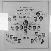 New Zealand members of the 1956-1958 Commonwealth Trans-Antarctic Expedition, which was the first successful expedition to cross Antarctica overland, using modified Ferguson tractors for the 2,150 mile crossing.