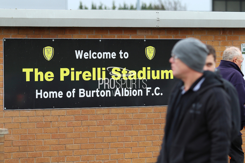 The Pirelli Stadium, Burton upon Trent, England, ahead of the Sky Bet League 1 match between Burton Albion and Oldham Athletic on 26 March 2016. Photo by Aaron Lupton.