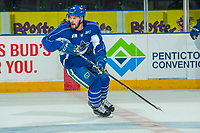 PENTICTON, CANADA - SEPTEMBER 9: Yan-Pavel Laplante #74 of Vancouver Canucks on September 9, 2017 at the South Okanagan Event Centre in Penticton, British Columbia, Canada.  (Photo by Marissa Baecker/Shoot the Breeze)  *** Local Caption ***