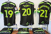 FGR away shirts in the dressing room during the EFL Sky Bet League 2 match between Macclesfield Town and Forest Green Rovers at Moss Rose, Macclesfield, United Kingdom on 29 September 2018.