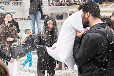 4 Apr.2015 - The 7th annual International pillow fight day - Trafalgar Square
