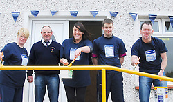 Members of Ballyhaunis RFC teamed up with Ulster Bank making the most of their RugbyForce weekend. The east Mayo Rugby Club were the provincial winners of a support package of ?5000 which will be used to improve the club's facilities. Pictured are Barbara Duffy (Ulster Bank) Tony Henry (President Ballyhaunis RFC) Laura Donnellan (Ulster Bank), Shane Ganly (Ballyhaunis RFC) and Ray Walsh from Ulster Bank ...Pic Conor McKeown