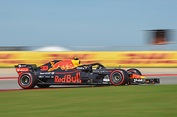 October 21, 2018 - Austin, TX, U.S. - AUSTIN, TX - OCTOBER 21: Red Bull Racing driver Max Verstappen (33) of Netherlands races toward turn 10 during the F1 United States Grand Prix on October 21, 2018, at Circuit of the Americas in Austin, TX. (Photo by Ken Murray/Icon Sportswire) (Credit Image: © Ken Murray/Icon SMI via ZUMA Press)