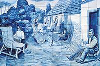 Azulejos at Monte- Madeira island - Portugal