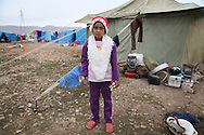 ARBAT, IRAQ: Rabea Ahmad, 8, from Derzor, Syria, is pictured in a refugee camp in Arbat, Iraq. ..The semi-autonomous region of Iraqi Kurdistan has accepted refugees from the conflict in Syria into several camps. Arbat lies near Sulaimaniyah in northeastern Iraq, approximately 500 kilometres from the Syrian border...Photo by Besaran Tofiq/Metrography