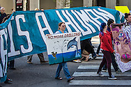 Protesters march to the Superdome to protest a lease sale  of the Gulf Of Mexico.