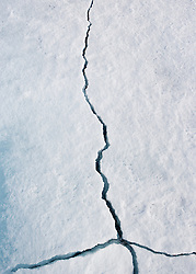 Breaking ice north of Svalbard