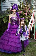 Nancy Gunn and daughter at the Purple Party at the home of Robyn Halvorsen on Lundi Gras 2017