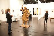Europe, Germany, Cologne, the art exhibition Art Cologne at the exhibition centre in the town district Deutz, sculpture &quot;The Hunter&quot; by Neo Rauch.<br /> <br /> Europa, Deutschland, Koeln, Kunstmesse Art Cologne in den Deutzer Messehallen, Skulptur &quot;Die Jaegerin&quot; von Neo Rauch. ***HINWEIS ZU DEN ABGEBILDETEN KUNSTWERKEN - RECHTE DRITTER SIND VOM NUTZER ZU KLAEREN*** ***PLEASE NOTE: THIRD PARTY RIGHTS OF THE SHOWN WORK OF ART MUST BE CHECKED BY THE USER***