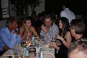 Count Leopold von Bismarck, Allegra Hicks, Sir Bob Geldof, Juliet Hohnen and Robert Fox. Dinner at San Lorenzo, Beauchamp Place after Tod's hosts Book signing with Dante Ferretti celebrating the launch of 'Ferretti,- The art of production design' by Dante Ferretti. 19 April 2005.  ONE TIME USE ONLY - DO NOT ARCHIVE  © Copyright Photograph by Dafydd Jones 66 Stockwell Park Rd. London SW9 0DA Tel 020 7733 0108 www.dafjones.com
