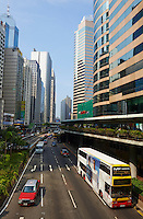 Chine, Hong Kong, Hong Kong Island, Connaught road Central // China, Hong-Kong, Hong Kong Island, Connaught road Central