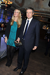 ZAC GOLDSMITH MP and ALICE ROTHSCHILD at the Wild for WSPA dinner in aid of the charity World Society for the Protection of Animals held at Under The Bridge, Stamford Bridge, Fulham Road, London on 23rd February 2012.
